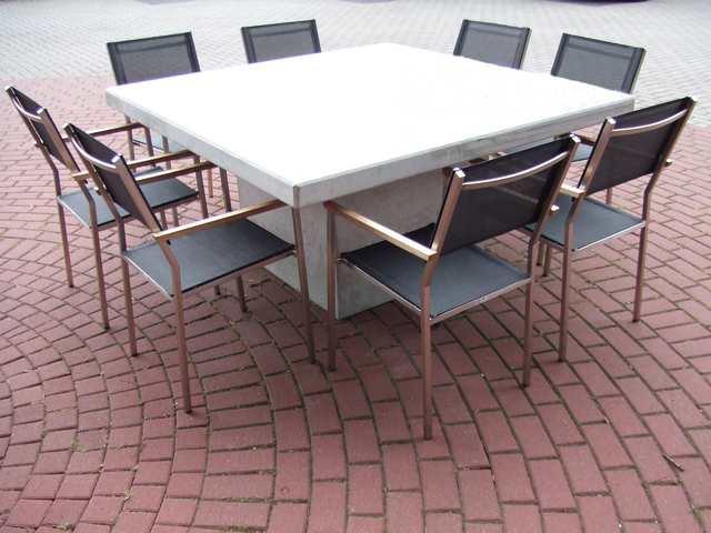 Beton Tafel Buiten : Betonnen tuintafel. top tafel trigo round concrete with betonnen